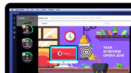 Opera представила новый браузер Neon