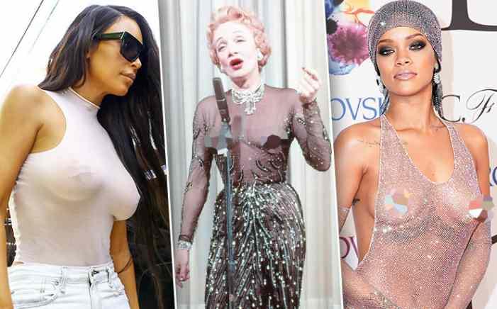 Голые соски: Марлен Дитрих, Рианна, Белла Хадид и другие звезды без лифчика