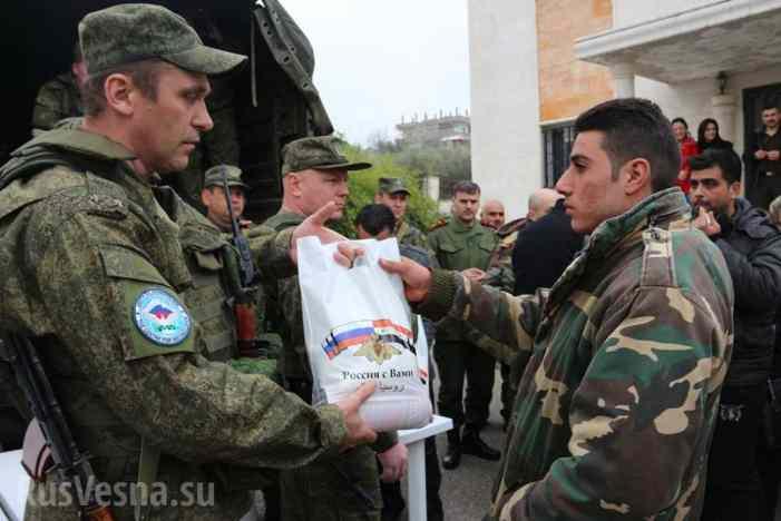 Российских военных в Сирии встретили «Катюшей» (ВИДЕО)