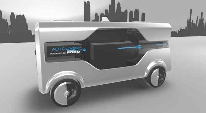 Концепт автономной службы доставки от Ford