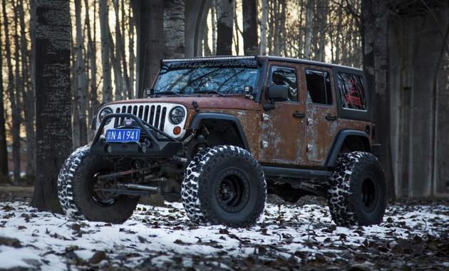 Ржавый стиль: представлен уникальный Jeep Wrangler