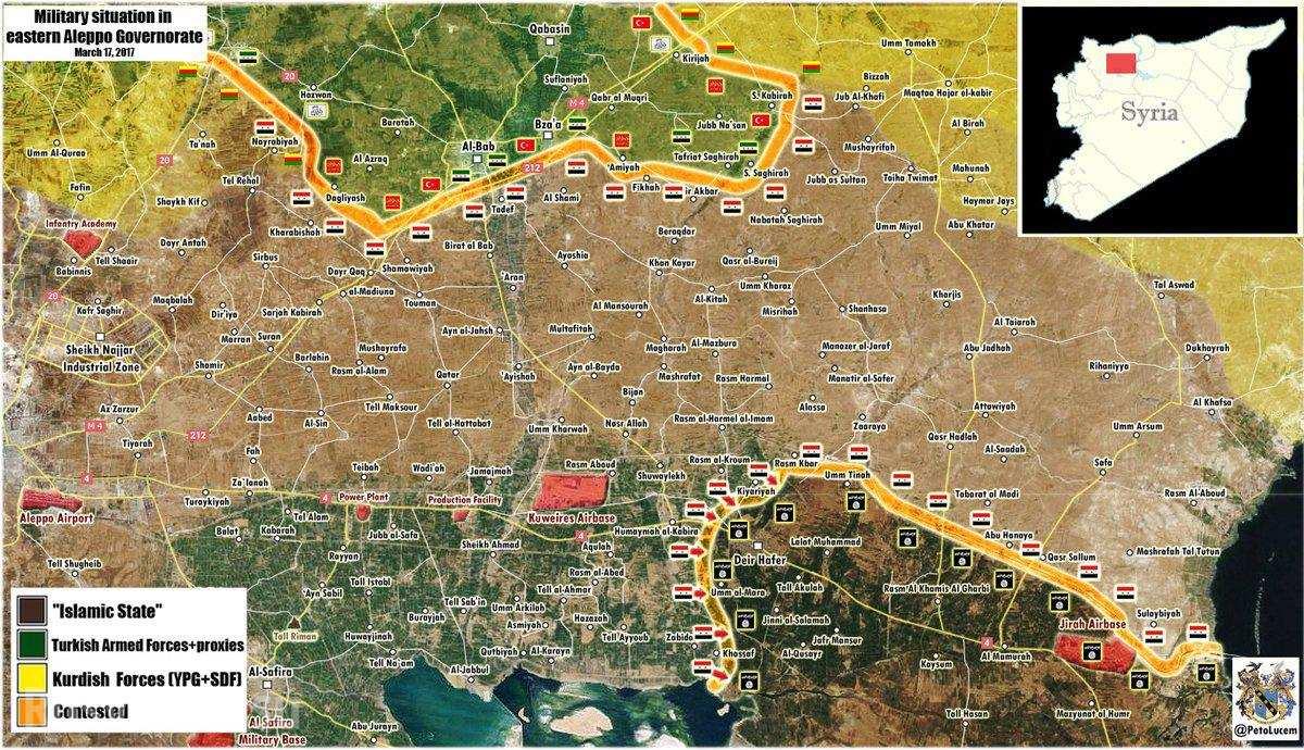 ВКС России громят ИГИЛ, а «Тигры» прорываются к крепости банд в Алеппо (КАРТА)