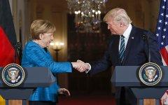 Дональд Трамп впервые провел встречу с Ангелой Меркель