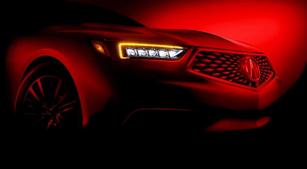 Первое фото обновленного седана Acura TLX