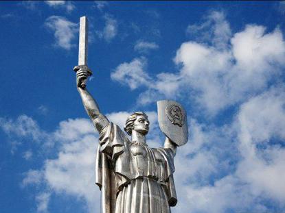 Вятрович готовится демонтировать герб СССР на монументе «Родина-мать»