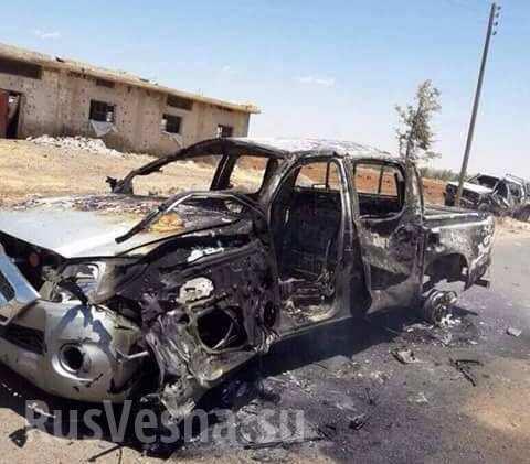 Неизвестный спецназ устроил бойню на юге Сирии: Разгромлена колонна боевиков (ФОТО 18+)