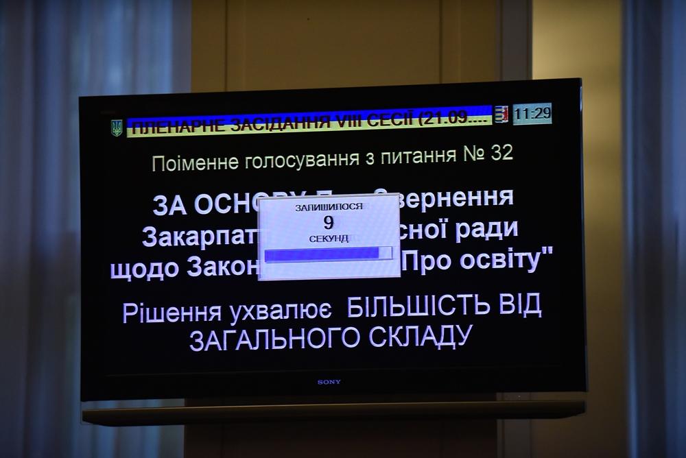 Закарпатский облсовет попросил Порошенко ветировать скандальный закон об образовании