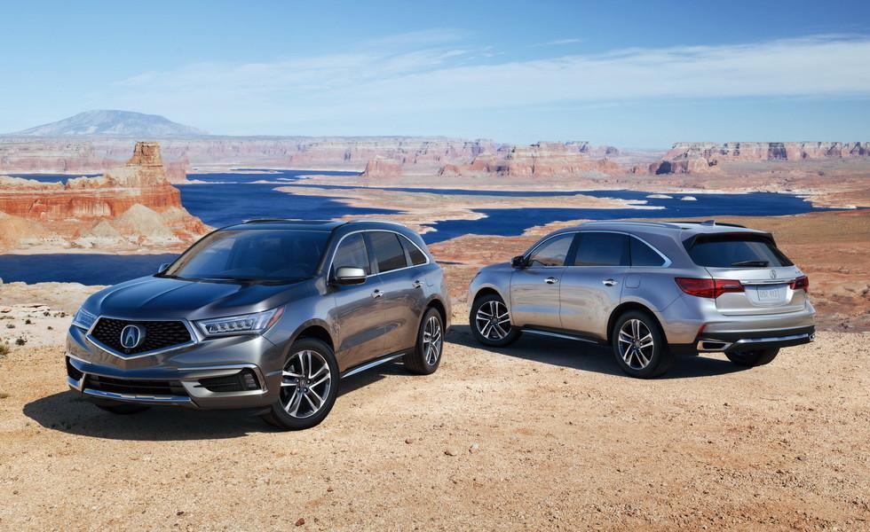 Acura MDX 2018 с новой начинкой получила прайс для Америки