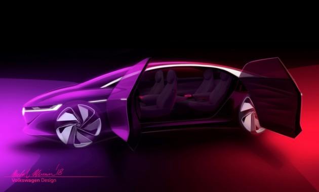 Большой седан Volkswagen I.D. Vizzion дебютирует в марте